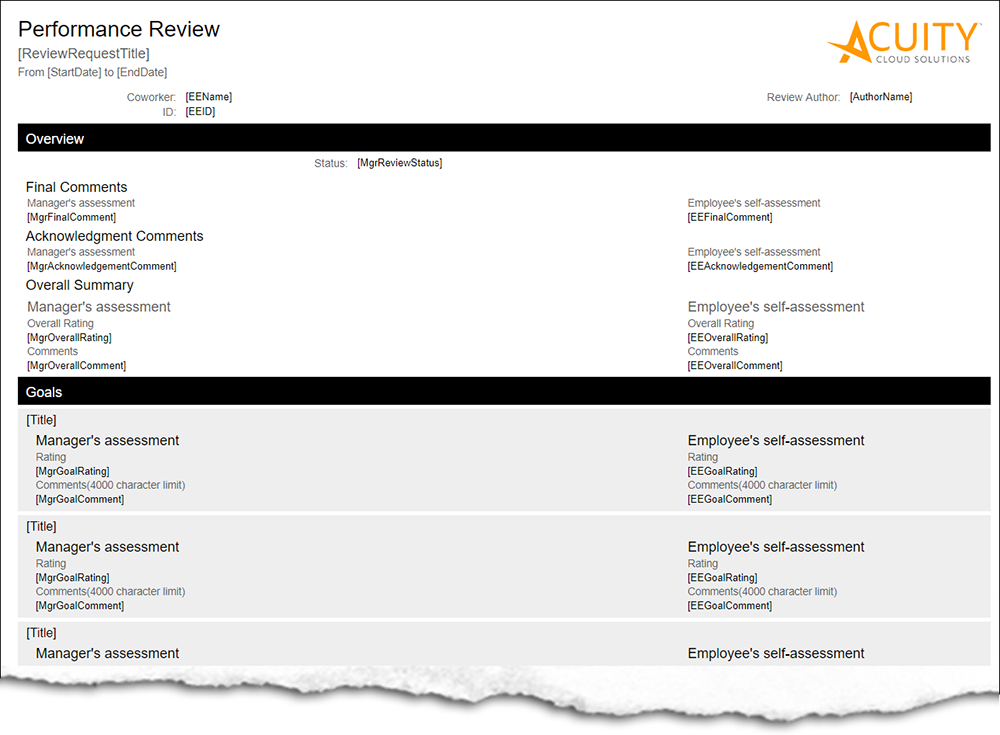 Performance Review PDF Merge