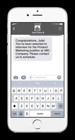 Recruiting text message